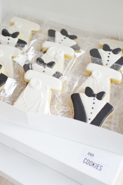 Dress and Tux Wedding Cookies