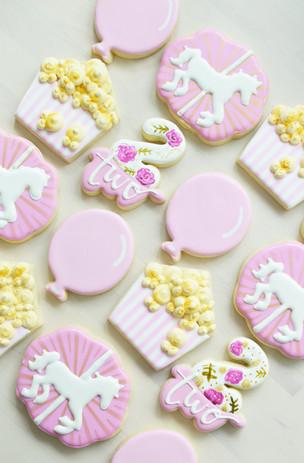Carousel Birthday Cookies