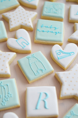 Blue Baby Shower Cookies