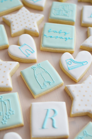 Baby Blue Baby Shower Cookies