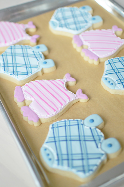 Onesie Baby Shower Cookies