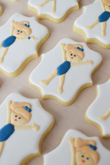 Gymnastics Birthday Cookies