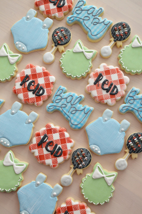BBQ Baby Shower Cookies