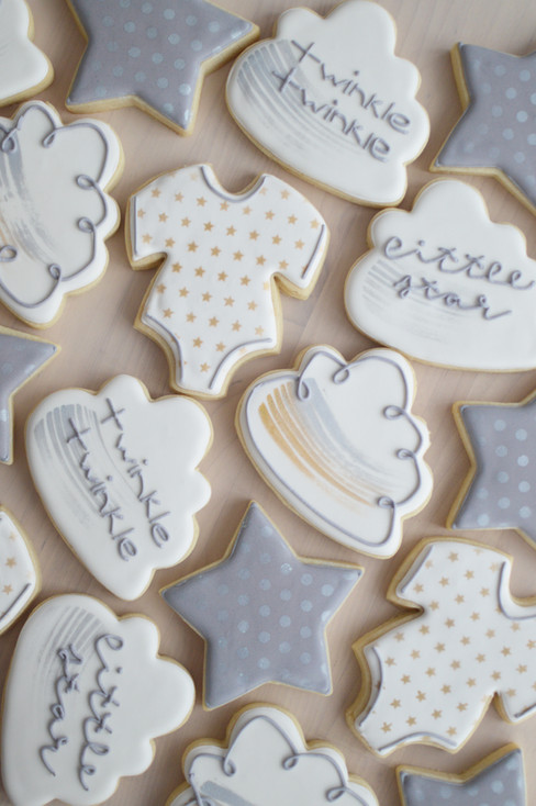 Twinkle Little Star Baby Shower Cookies