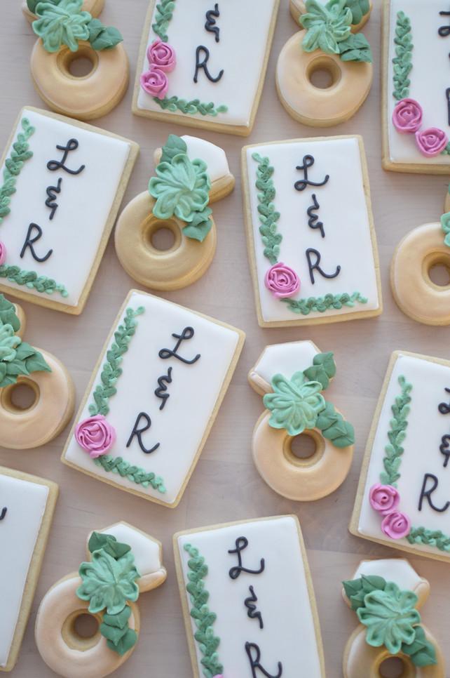 Floral Bridal Shower Cookies