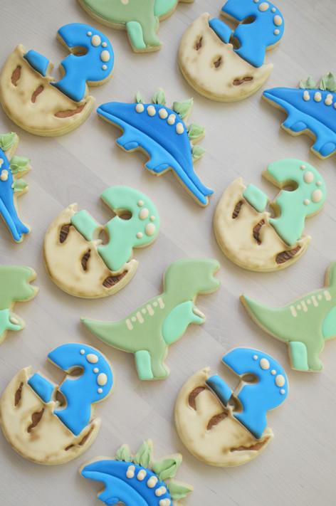 Dinosaur Birthday Cookies