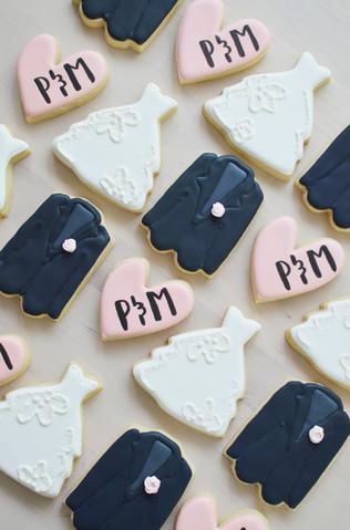 Jack and Jill Wedding Cookies