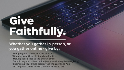 Give Faithfully