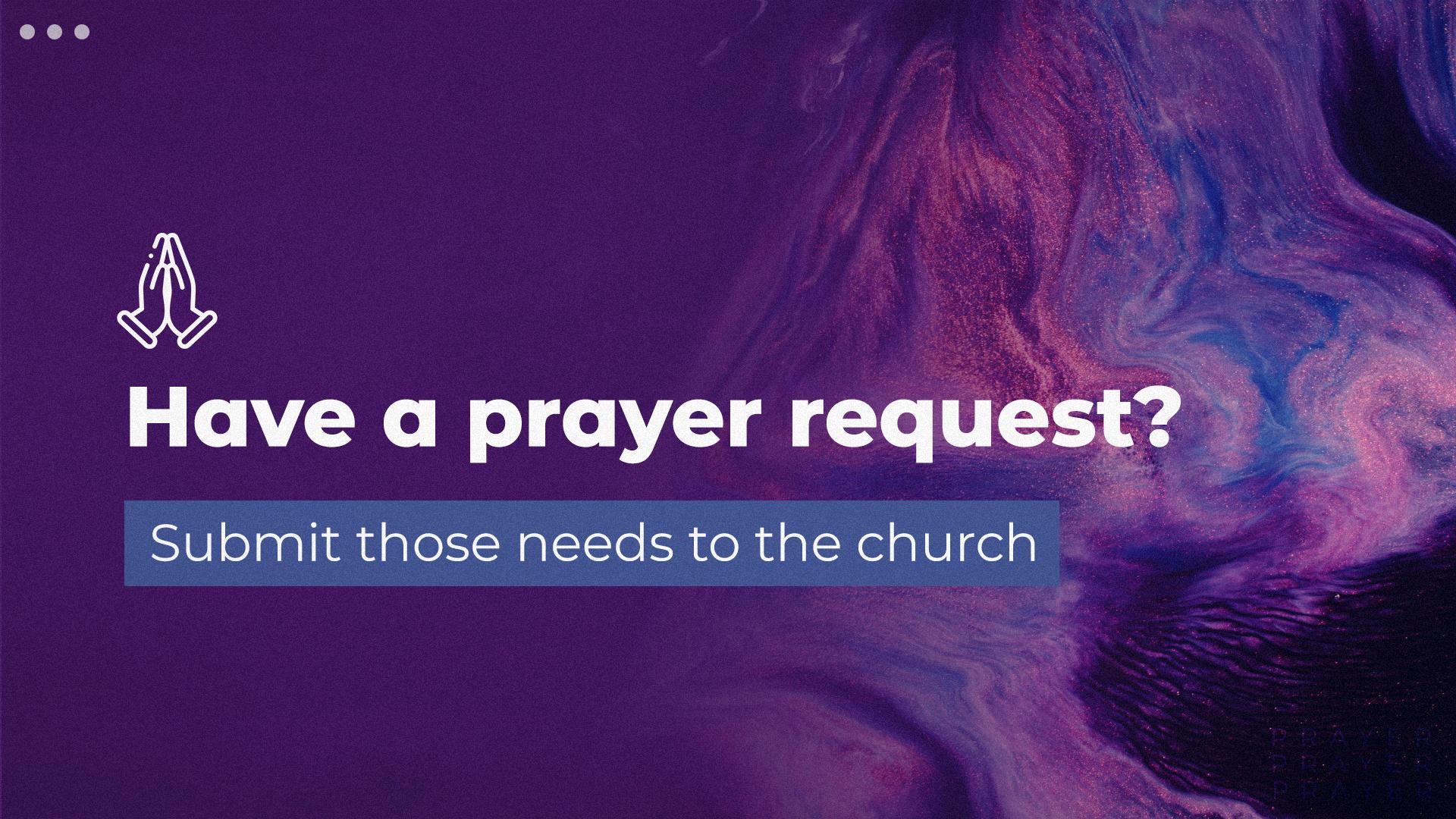 SeddonBC Prayer Requests