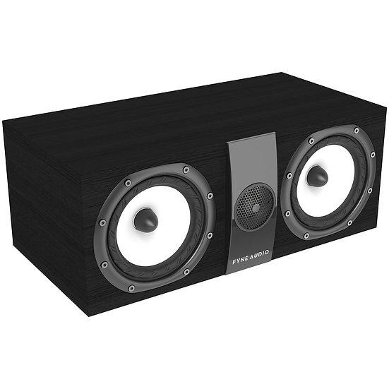Fyne Audio F300C black ash front og side
