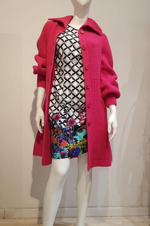 Dress: Joseph Ribkoff;  Knitted Coat: Twinset
