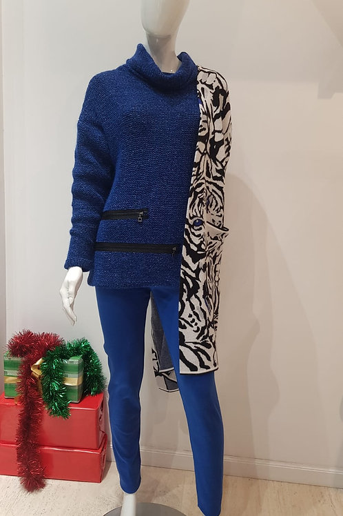 Golf Sweater: Sarah Pacini; Pants: Sara Pacini; Cover Up: Joseph Ribkoff