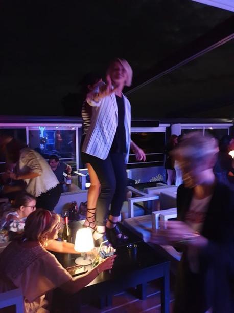 Soirée au Nautic, au bar