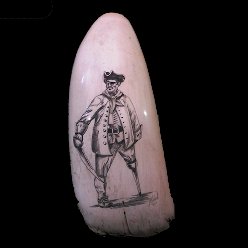Whales Tooth Scrimshaw Pirate