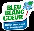 label bleu blanc coeur