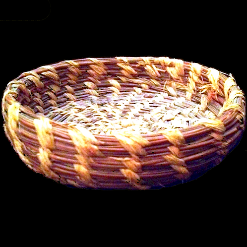 Pine needle hand made basket