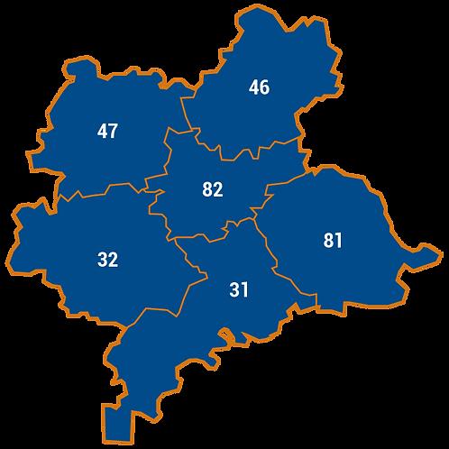 Carte département