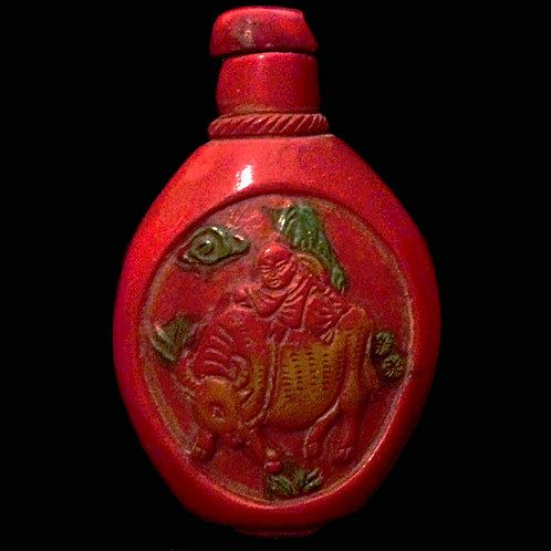 """SALE"" Chinese Opium bottle Relief carved"