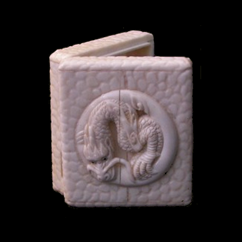 Carved Bone Dragon Box