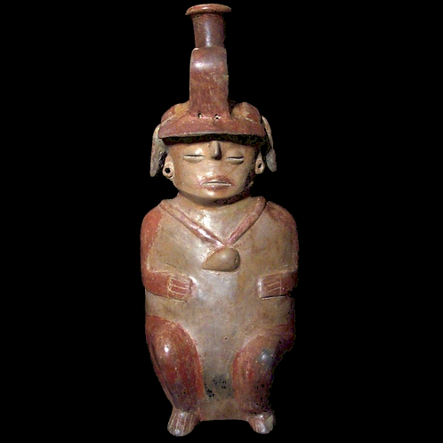 Seated hollow-body female Chorrera Figure