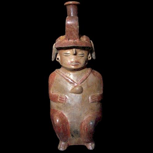 Seated hollow-body female Chorrera Figure