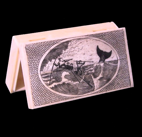 Scrimshaw Whales, Bone Box