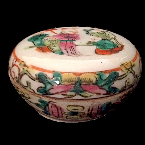 Ming Dynasty soap dish Hand painted (with lid)