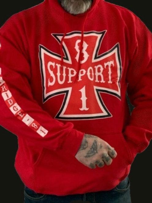 Men's Red Iron Cross Hoodie