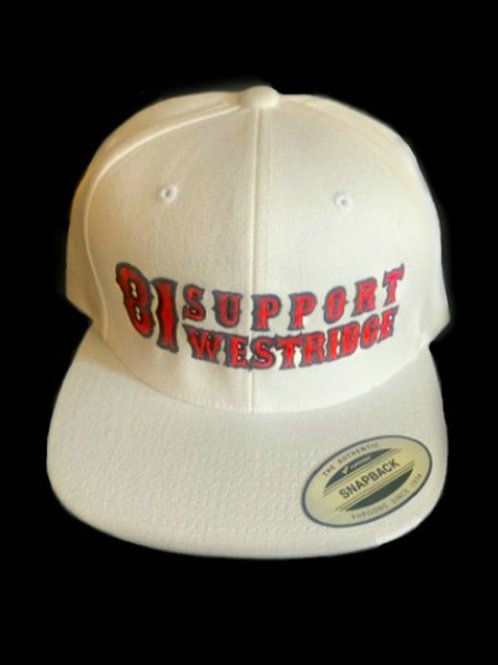 White 81 Support Snap Hat