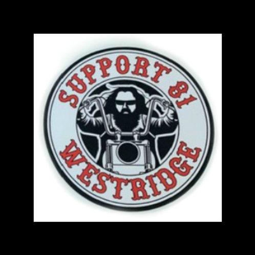 Support 81 Biker Sticker