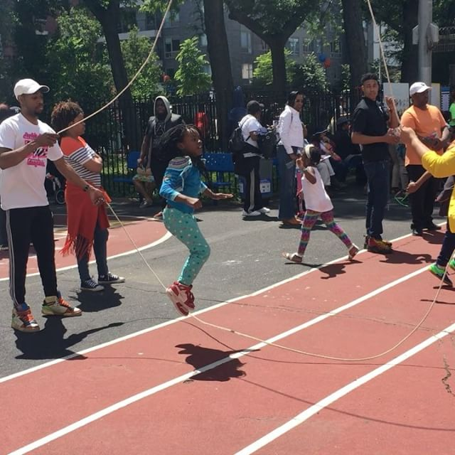 First time doubledutcher at today's P.S. 316's block party in Crown Heights today