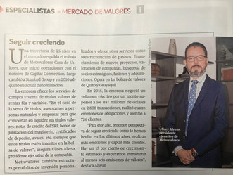 Entrevista Revista Enfoque:                          - Seguir Creciendo -