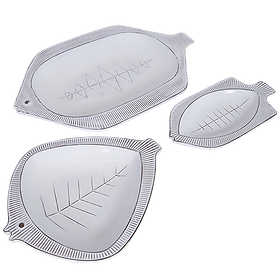 White Enemal Tray Set (3) $89