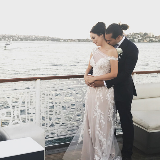 Chloe Morello and Sebastian Sydney Harbour