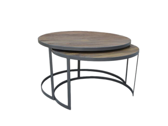 Xable Round Coffee Table 3 Set $659