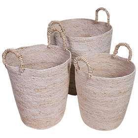 Seagrass Tall Basket Set (3) $229