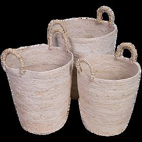 Seagrass Tall Basket Set (3) $229