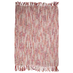 Woven Throw Coral $79