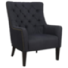Raine Linen Fabric Armchair, Carbon