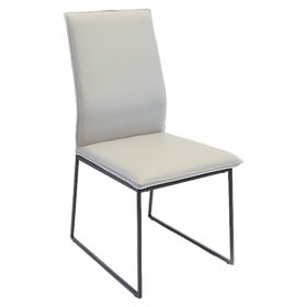 Malmo Dining Chair Pewter Leather 499ea