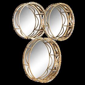 Atoll Round Mirror Set $179