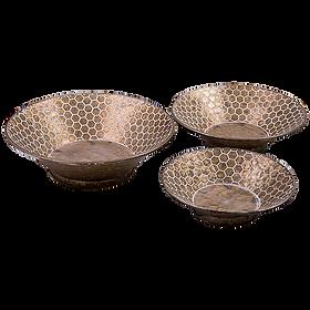 Hex Decorative Metal Bowls Set (3) $119