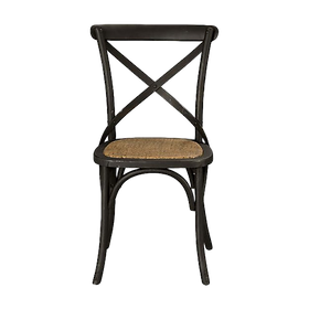 Barista Cross Back Chair Black $219