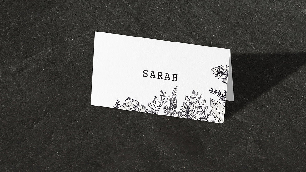 Outline Place Cards With Names Printed