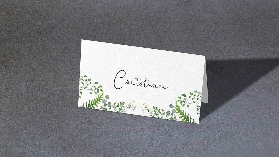 Greenery Place Cards With Names Printed