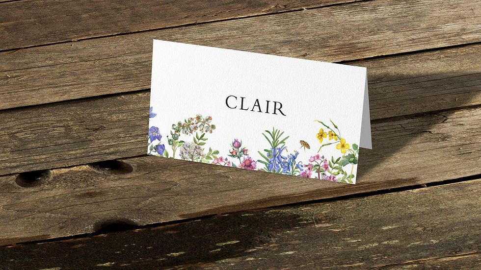 Spring Place Cards With Names Printed