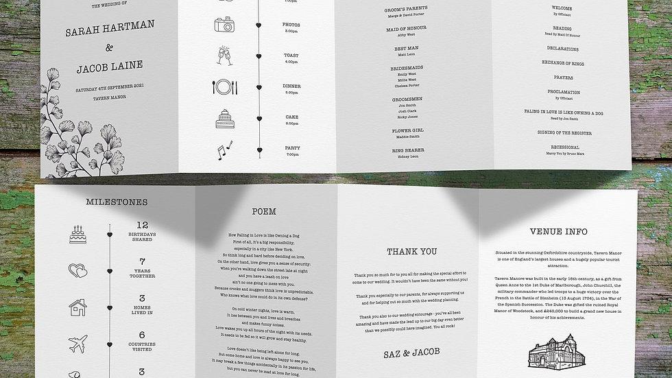 Outline Tri Fold Program