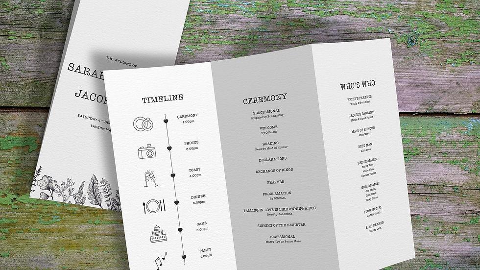 Outline Ceremony Programs