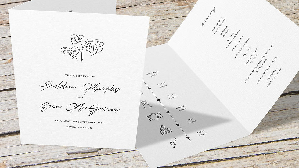 Beach Folded Wedding Programs