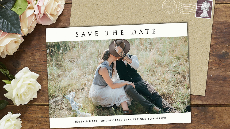 Single Photo Save The Date Cards With Envelopes